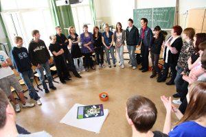 Eine teilnehmende Schulklasse am Projekt / Urheber: N. Göller