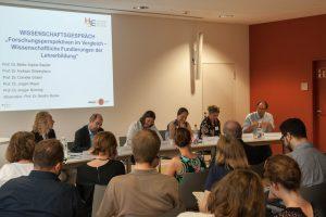 Teilnehmer des Wissenschaftsgespräch im Rahmen der Summer School der Heidelberg School of Education, Juli 2016 (Foto: HSE)