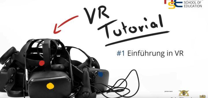 Screenshot aus dem Youtube Tutorial zu Virtual Reality, der eine VR-Brille zeigt