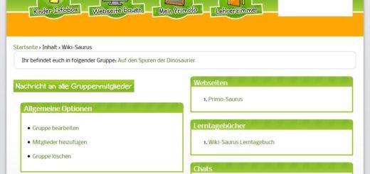 Die Lernplattform Primolo wird in einem Screenshot dargestellt.